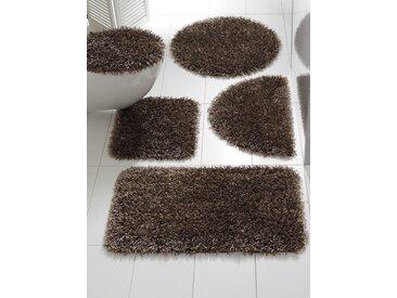 Badezimmer-Garnitur mit edlem Glanz mit edlem Glanz mit edlem Glanz, braun, ca. 50/80cm, halbrund, heine home