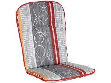 Sesselauflage, 45x5x96 cm (BxHxT), 4er Set, Best, Material Baumwolle, Motiv, gemustert