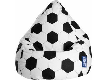 Sitz-Sack  »Fussball L«, schwarz, Material Baumwolle / Polystyrol, Sitting Point