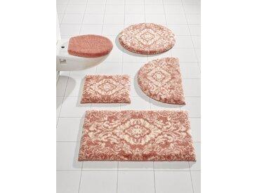 Badezimmer-Garnitur gemustert, orange, Material Polyacryl, Grund