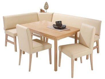 Eckbank-Gruppe, 4er Set, FSC®-zertifiziert, beige, Material Holz / Buche, Yourhome, strapazierfähig