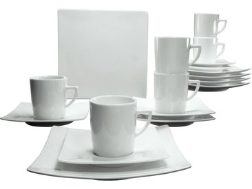 Kaffeeservice, weiß, Material Porzellan »Elegance«, CreaTable, Unifarben, spülmaschinenfest