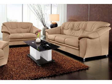 Polstergarnitur, mit Federkern, FSC®-zertifiziert, sit&more, braun, Material Holzwerkstoff, frei stellbar