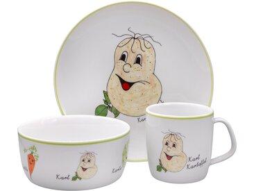 Kindergeschirr-Set, mehrfarbig, Material Porzellan »Gesunde Freunde Kartoffel«, Eschenbach, Motiv, spülmaschinenfest