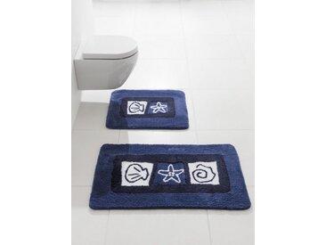 Badezimmer-Garnitur, blau, Material Polyacryl, Kleine Wolke