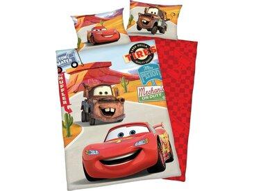 Kinderbettwäsche , 1x 40x60 cm, mehrfarbig, Material Baumwolle »Disney´s Cars«, Disney, bedruckt, Motiv