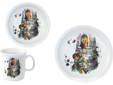 Kindergeschirr-Set »Rapunzel«, mehrfarbig, Material Porzellan, Eschenbach, Motiv, spülmaschinenfest