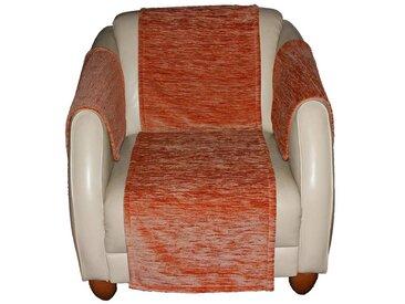 Wirth Sofaüberwurf , orange, Material Stoff / Thermo-Chenille »Miriam«, Meliert, strapazierfähig