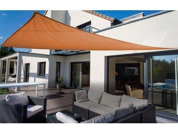 Sonnensegel »Dreieck«, Floracord, orange, Material Polyester, wasserabweisend