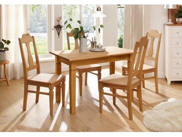 Home affaire Esstisch, Landhaus-Stil, FSC®-zertifiziert, beige, Material Massivholz / Kiefer »Madrid«