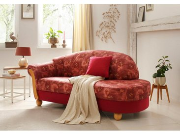 Home affaire  Chaiselongue  »Milano«, mit Federkern, Ottomane rechts oder links, FSC®-zertifiziert, rot, gemustert