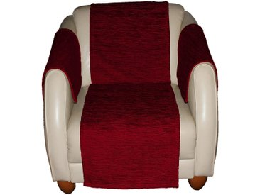 Wirth Sofaüberwurf , rot, Material Stoff / Thermo-Chenille »Miriam«, Meliert, strapazierfähig