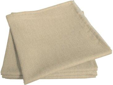 Stoffserviette »Uni Light Collection«, beige, Material Bio-Baumwolle, Adam