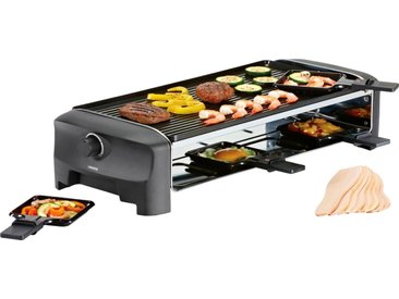 PRINCESS Raclette 8 Grill & Teppanyaki Party - 162840, 8 Raclettepfännchen, 1300 W