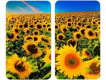 Herd-Abdeckplatte, mehrfarbig »Universal Sonnenblumenfeld«, WENKO