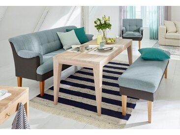 Speisesofa Luunja, mit Federkern, blau, Material Eiche, Guido Maria Kretschmer Home&Living