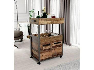 Barschrank Höhe ca. 88 cm, 60x88.2x40 cm (BxHxT), FSC®-zertifiziert, FORTE, Material Holzwerkstoff, Kunststoff, Metall