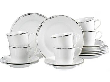Kaffeeservice, weiß, Material Porzellan »Barlow«, Ritzenhoff & Breker, spülmaschinengeeignet