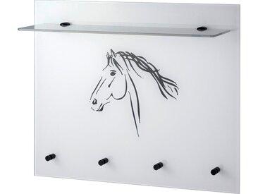 Garderobenpaneel, weiß »Pferd«, GGG MÖBEL