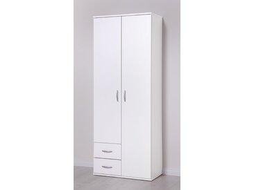 Mehrzweckschrank, 64x167x34 cm (BxHxT), Procontour, weiß, Material Kunststoff, Spanplatte