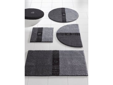 Badezimmer-Garnitur mit Swarovski-Kristallen, grau, Material Polyacryl, Grund
