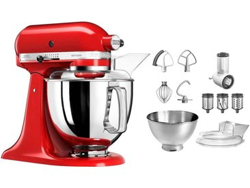 Küchenmaschine Artisan 5KSM175PSEER mit Gratis Gemüseschneider und 3 Trommeln , rot, KitchenAid
