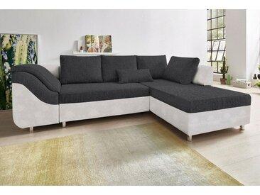 COLLECTION AB  Eck-Couch, Ottomane rechts oder links, FSC®-zertifiziert, grau, mit Schlaffunktion
