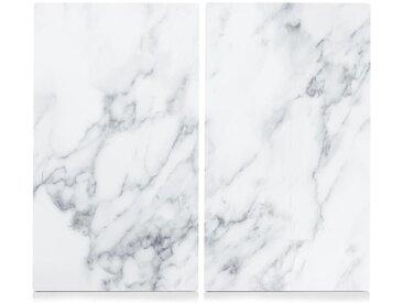 Schneide- und Abdeck-Platte  »Marmor«, weiß, Zeller Present