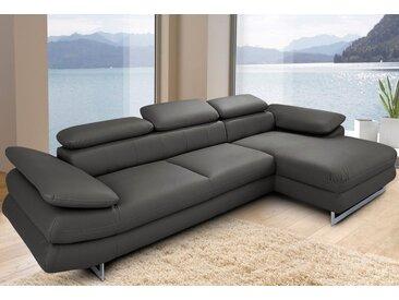 INOSIGN Ecksofa »Solution2«, mit Bettfunktion, grau, 262 cm, 45 cm, 62 cm, mit Schlaffunktion, mit Armlehnenverstellung