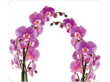Herdabdeckplatte , weiß »Orchideenblüte«, WENKO