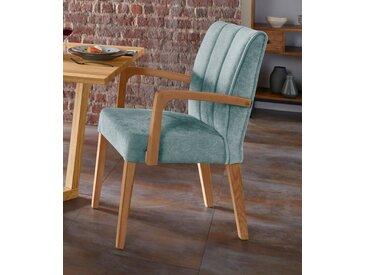 Armlehnstuhl »Nora Premium 2«, FSC®-zertifiziert, blau, Material Massivholz, Yourhome, strapazierfähig