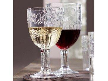 Rotweinglas , transparent,