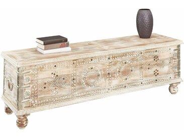 Home affaire Sitztruhe, FSC®-zertifiziert, weiß, Material Massivholz / Akazie