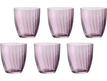 Gläser-Set   »Georgia«, Landhaus-Stil, rosa, Material Glas, BOHEMIA SELECTION, unifarben