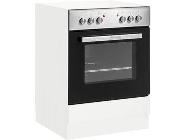Herdumbauschrank »Flexi2«, 60x82x57 cm (BxHxT), wiho Küchen, weiß, Material Holzwerkstoff, Melamin, MDF