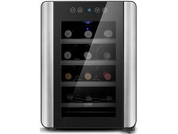Caso Getränkekühlschrank WineCase 12 Red, 48 cm hoch, 34 cm breit, Energieeffizienz: A