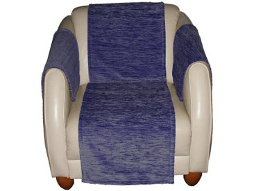 Wirth Sofaüberwurf , blau, Material Stoff / Thermo-Chenille »Miriam«, Meliert, strapazierfähig