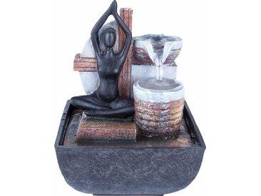 Home affaire  Zimmer-Brunnen, grau, Material Polyresin