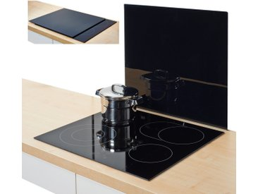 Herdblende-/Abdeck-Platte  »XL«, schwarz, Material Glas, Zeller Present