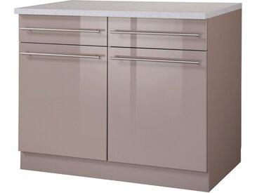 Unterschrank »Chicago«, 100x85x60 cm (BxHxT), wiho Küchen, braun, Material Holzwerkstoff, Metall