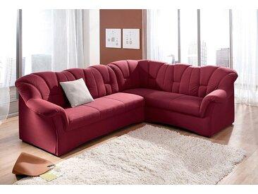 DOMO collection Ecksofa, in großer Farbvielfalt, wahlweise mit Bettfunktion, Langer Schenkel links oder rechts bestellbar, frei im Raum stellbar