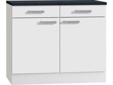 Unter-Schrank  100 cm breit »Odense 50«, 100x85x50 cm (BxHxT), OPTIFIT, weiß, Material Holzwerkstoff, Kunststoff, Metall, Melamin