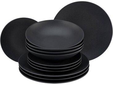Tafelservice  , schwarz »Soft Touch Black«, CreaTable, unifarben