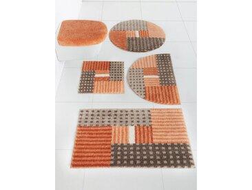 Badezimmer-Garnitur waschbar, orange, Material Polyacryl, Grund