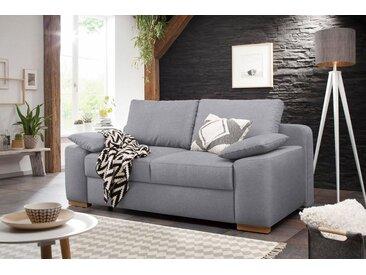Home affaire  Schlaf-Sofa  »Campine de luxe«, 2-Sitzer, mit Bettfunktion, Landhaus-Stil, silber, mit Schlaffunktion, mit Topper