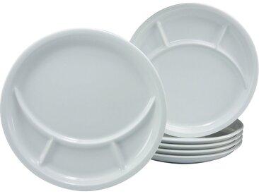 Fondue-Teller »Universal«, CreaTable, weiß, Material Porzellan, unifarben, spülmaschinenfest