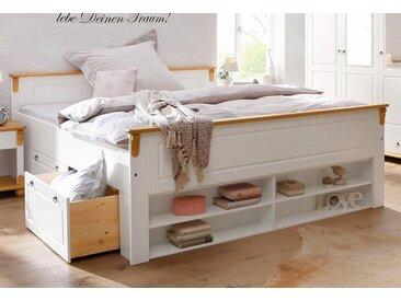 Home affaire Massivholzbett »Ascona«, FSC®-zertifiziert, weiß, Material Massivholz