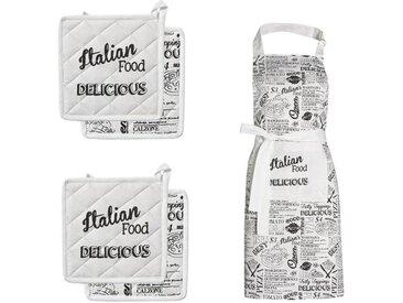 Kochschürze , weiß, »Italian Food«, DDDDD
