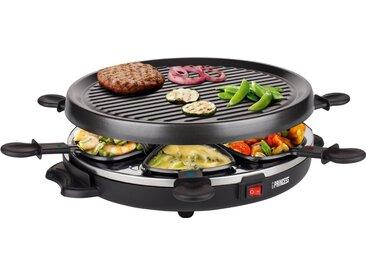 PRINCESS Raclette 6 Grill Party - 162725, 6 Raclettepfännchen, 800 W