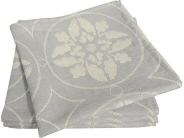 Stoffserviette »Romantic Puligny Light«, grau, Material Bio-Baumwolle, Adam